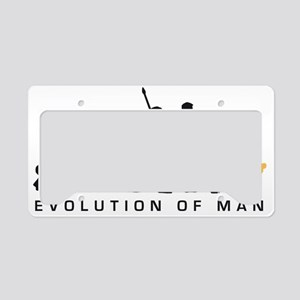 Evolution Baseball catcher B  License Plate Holder