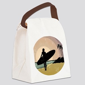 surfs up GOOD COPY Canvas Lunch Bag