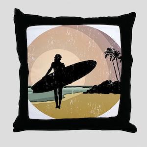 surfs up GOOD COPY Throw Pillow
