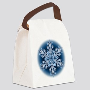 Snowflake 067 - transparent Canvas Lunch Bag