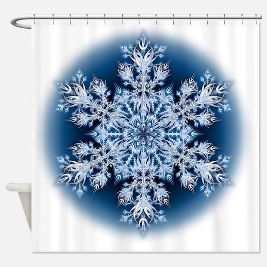Snowflake 067 - transparent Shower Curtain
