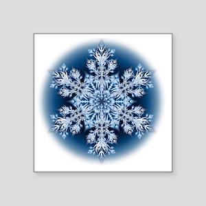"Snowflake 067 - transparent Square Sticker 3"" x 3"""