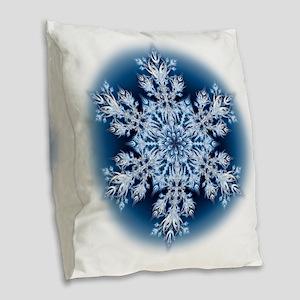 Snowflake 067 - transparent Burlap Throw Pillow