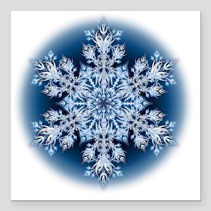 "Snowflake 067 - transpar Square Car Magnet 3"" x 3"""