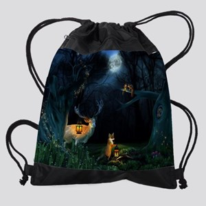 Magic Forest Wildlife Drawstring Bag