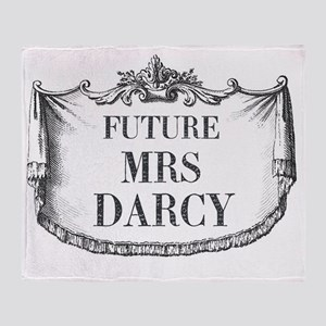 Future Mrs Darcy Mousepad Throw Blanket