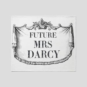 Future Mrs Darcy Mousepad Throw Blanket