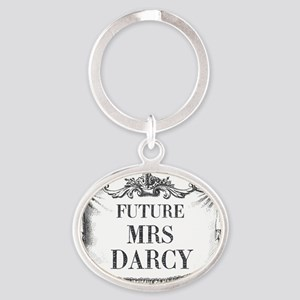 Future Mrs Darcy Mousepad Oval Keychain