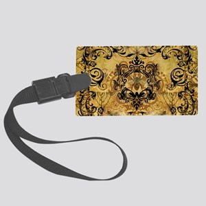 BeeFloralGoldPiloHz Large Luggage Tag