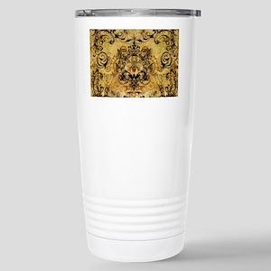 BeeFloralGoldPiloHz Stainless Steel Travel Mug