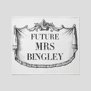 Future Mrs Bingley Mousepad Throw Blanket