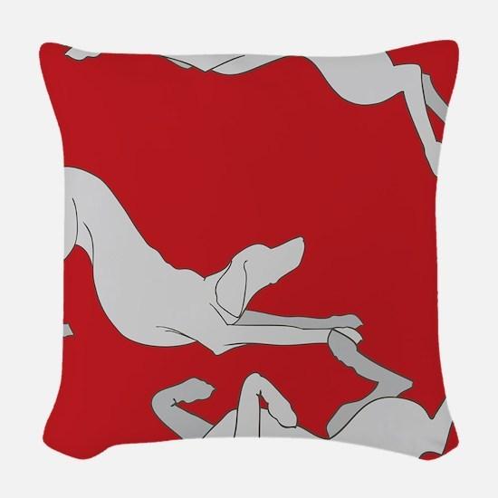 3WeimsRedTrans Woven Throw Pillow