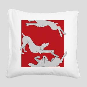 3WeimsRedTrans Square Canvas Pillow