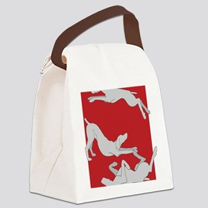 3WeimsRedTrans Canvas Lunch Bag