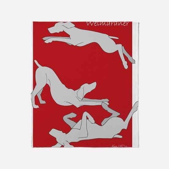 3WeimsRedTrans Throw Blanket