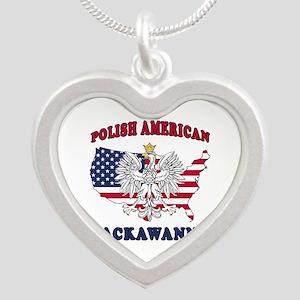 Lackawanna New York Polish Silver Heart Necklace