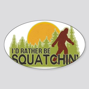 squatch-4 Sticker (Oval)