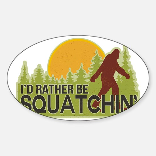 squatch-4 Sticker (Oval)