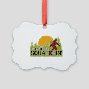 squatch-4 Picture Ornament