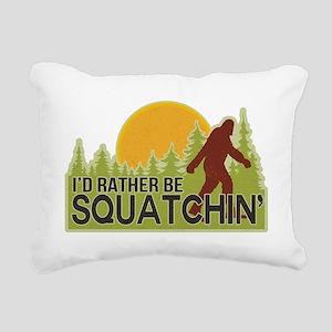 squatch-4 Rectangular Canvas Pillow