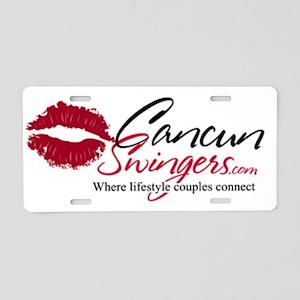 Cancun Swingers Logo Aluminum License Plate