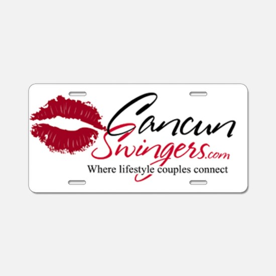 Cancun Swingers Logo Aluminum License Plate