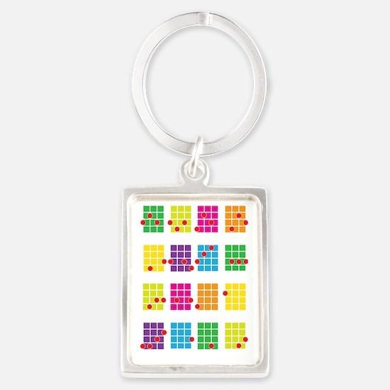 Uke Chords Colourful Portrait Keychain
