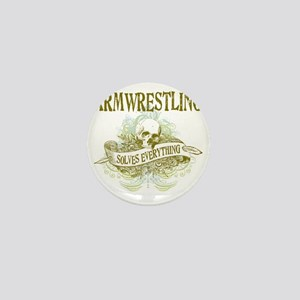 Armwrestling Solves Everything Mini Button
