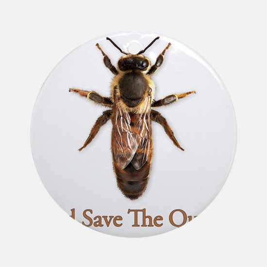 God Save the Queen Round Ornament