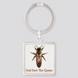 God Save the Queen Square Keychain