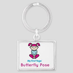 butterflypose_tshirt_front Landscape Keychain