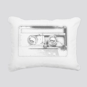 2000x2000cassette2clear Rectangular Canvas Pillow