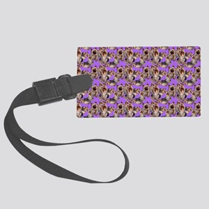 yorkshire terrier lavender pillo Large Luggage Tag