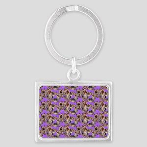 yorkshire terrier lavender pill Landscape Keychain