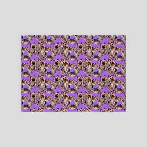 yorkshire terrier lavender pillowca 5'x7'Area Rug