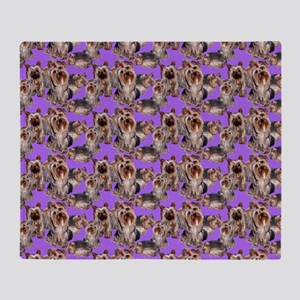 yorkshire terrier lavender pillowcas Throw Blanket