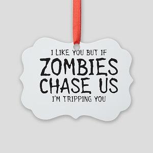 zombiechase Picture Ornament