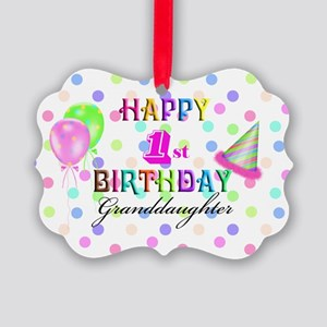 Granddaughter 1st Birthday Picture Ornament