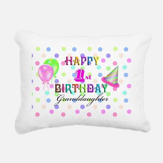 Granddaughter 1st Birthd Rectangular Canvas Pillow