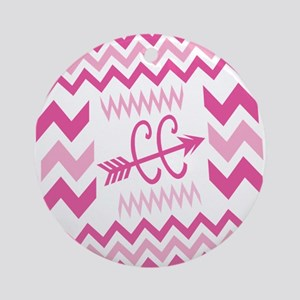 PINKs Cross Country ZigZags Ornament (Round)