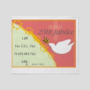 25th Jubilee Orange Throw Blanket