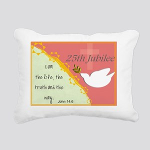 25th Jubilee Orange Rectangular Canvas Pillow