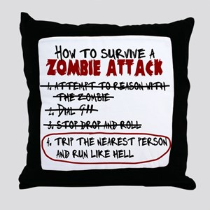 ZombieAttackSurvival Throw Pillow