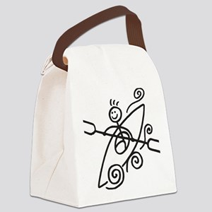 happy kayak black Canvas Lunch Bag