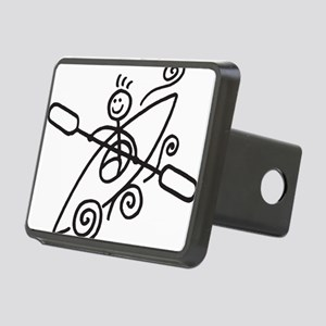 happy kayak black Rectangular Hitch Cover
