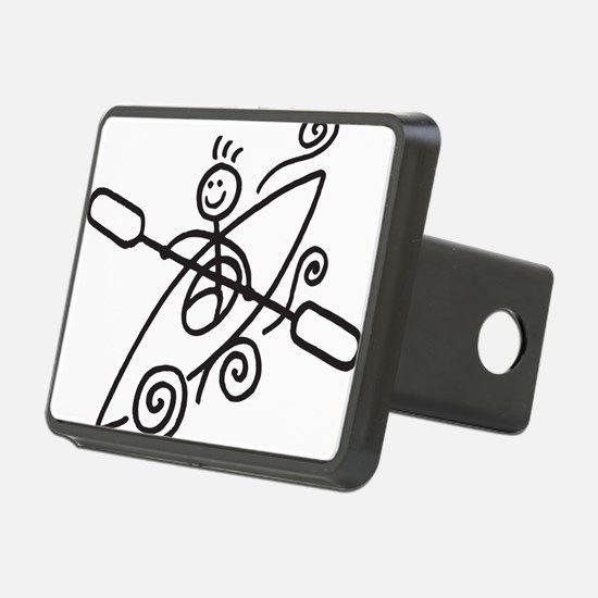 happy kayak black Hitch Cover