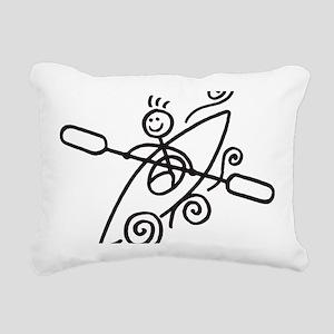 happy kayak black Rectangular Canvas Pillow
