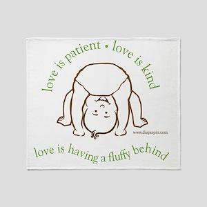 Fluffy Behind Throw Blanket