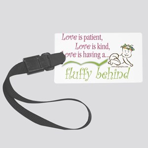 Fluffy Behind - Crawling Baby Large Luggage Tag