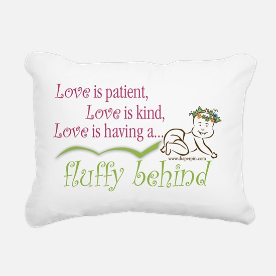 Fluffy Behind - Crawling Rectangular Canvas Pillow